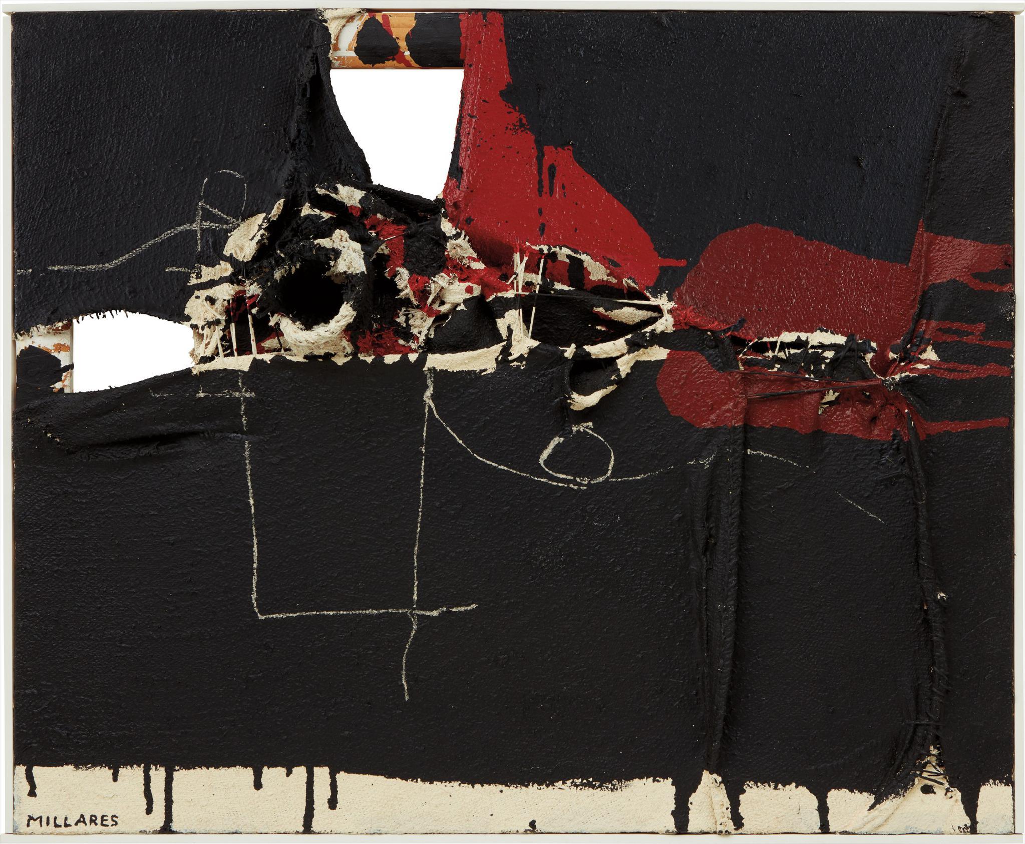 Manolo Millares-Cuadro 128-1961