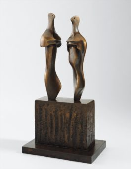 Henry Moore-Two Three-Quarter Figures On Base-1984