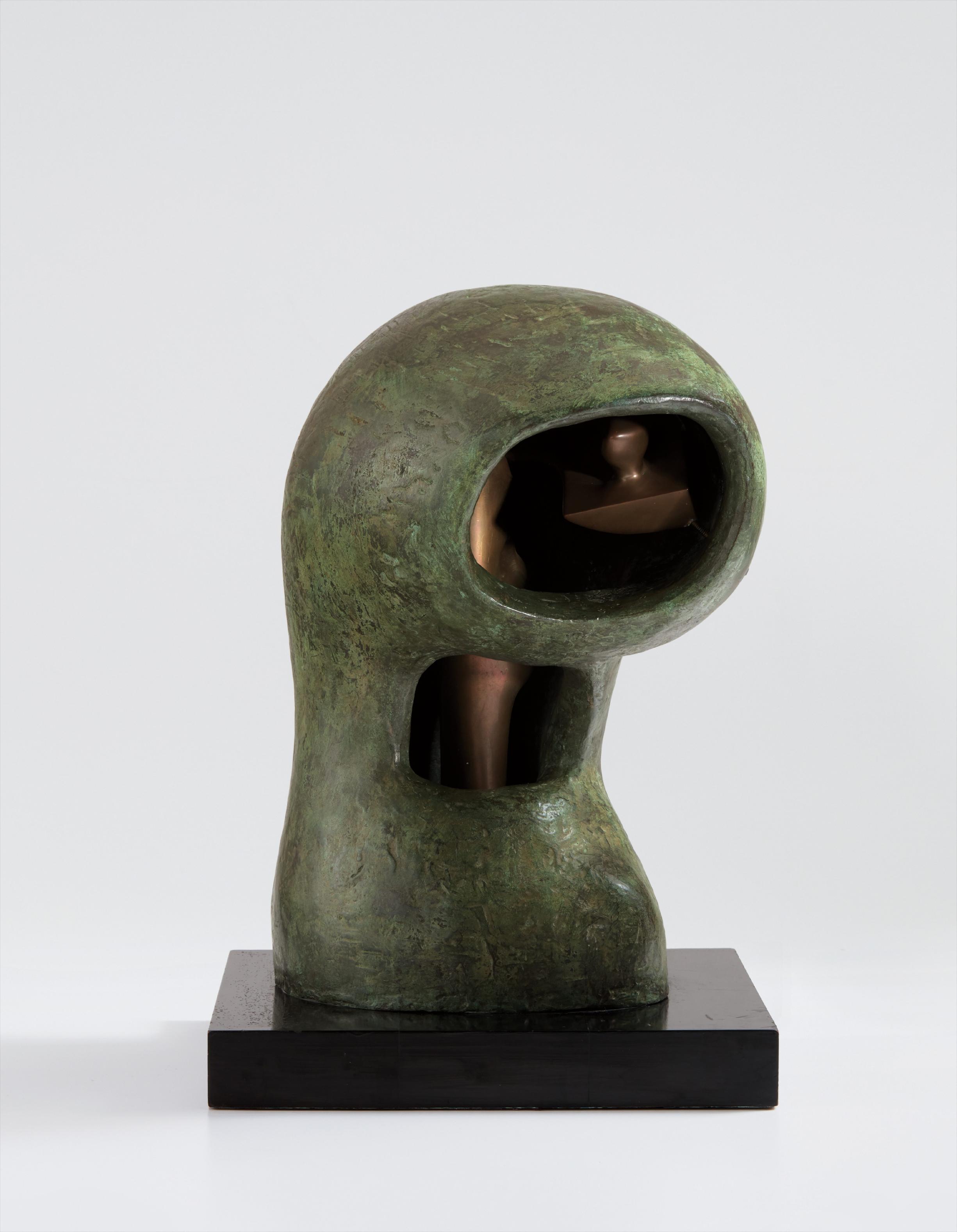 Henry Moore-Helmet Head No. 4: Interior-Exterior-1963