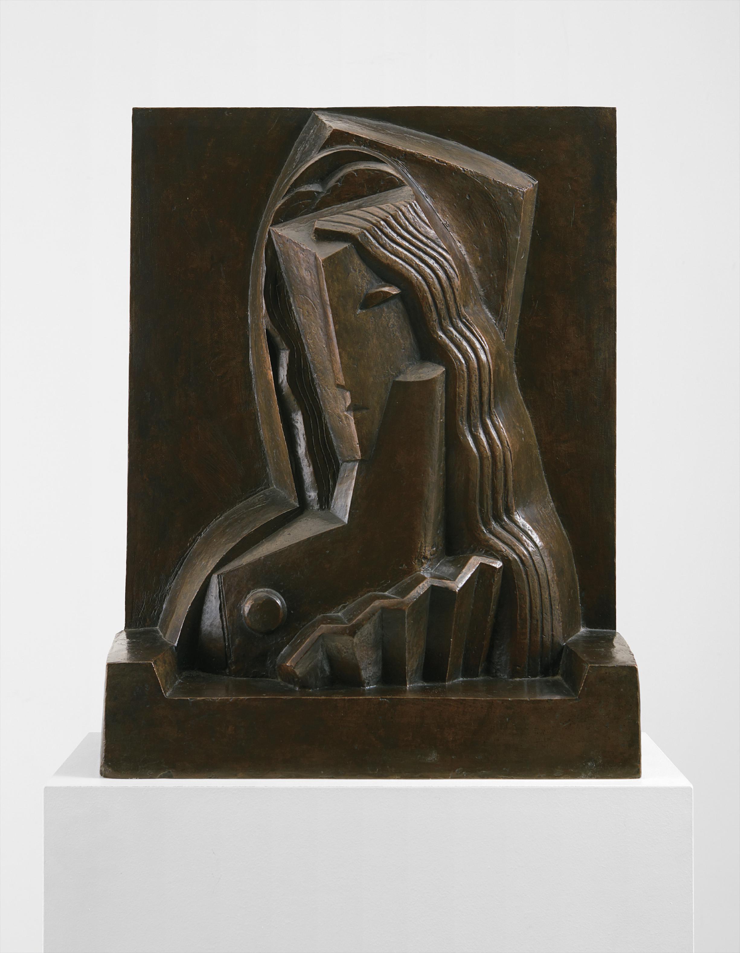 Henri Laurens-Femme A Leventail (Woman With Fan)-1921