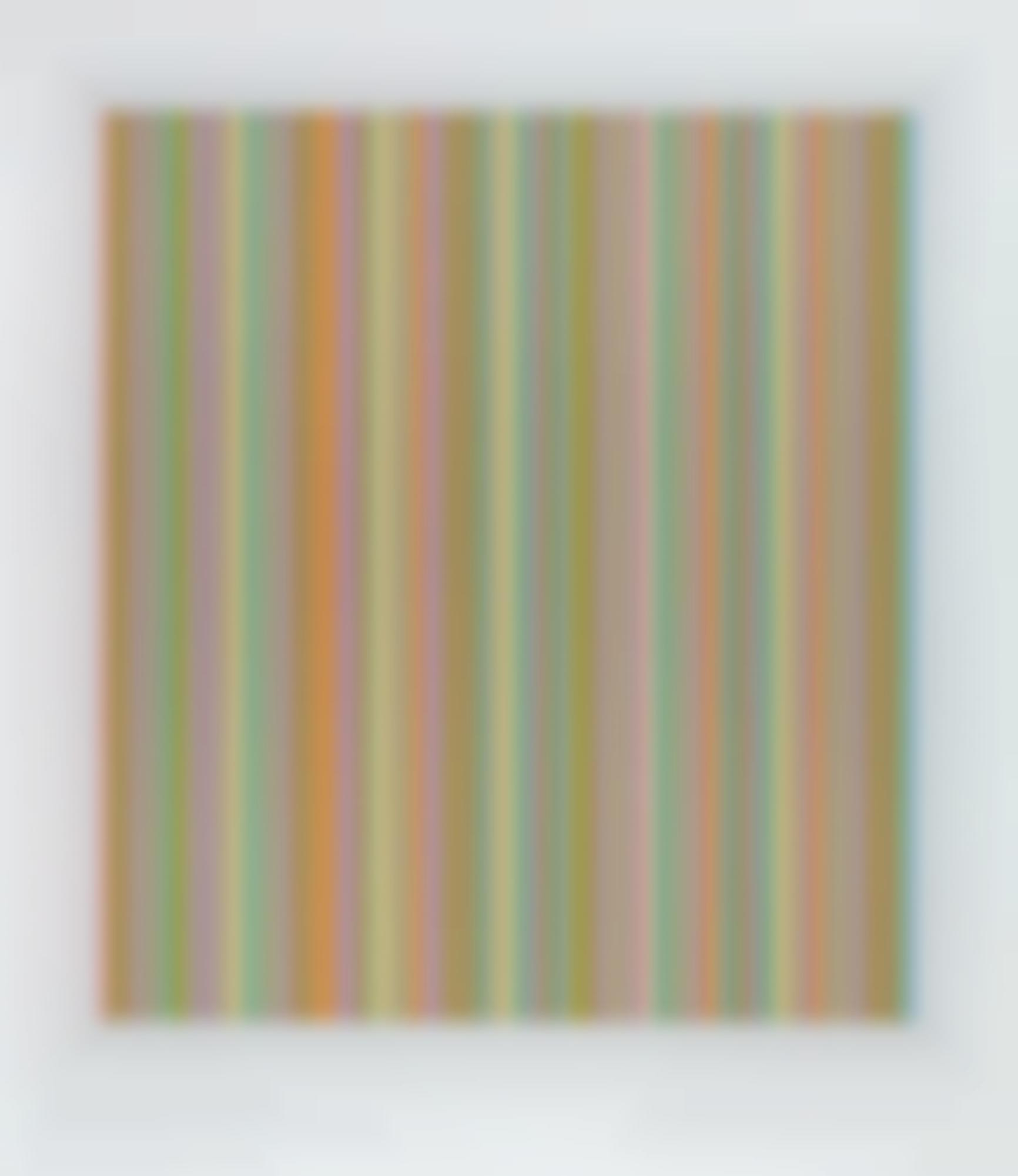 Bridget Riley-Red, Green, Blue And Yellow, Five Whites-1983