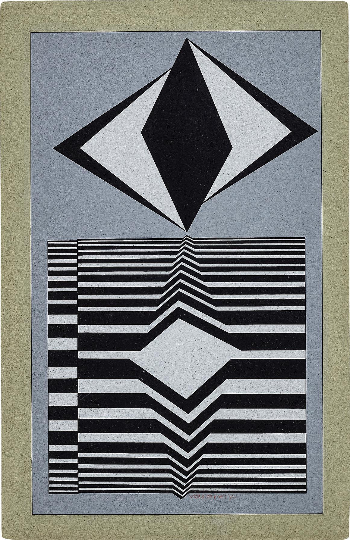 Victor Vasarely-Tsengue-1987