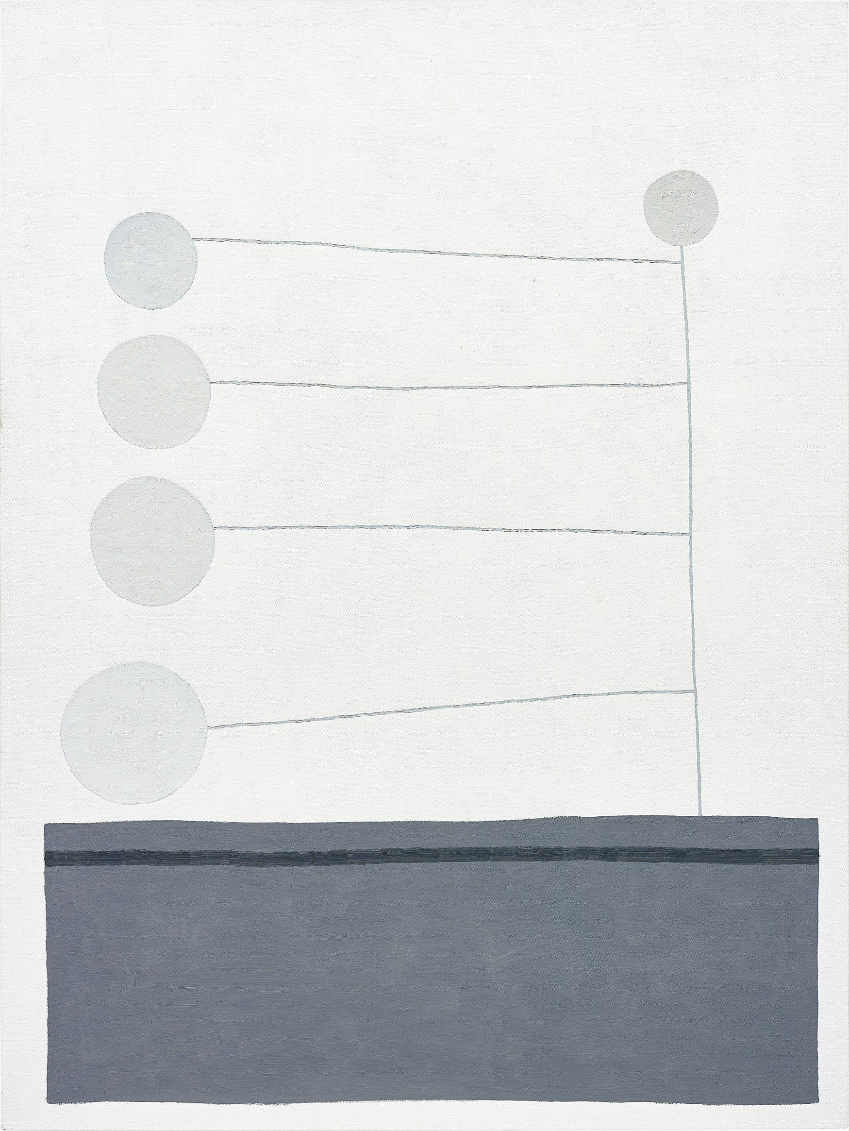 Jonas Wood-Untitled (Gray Dots)-2010