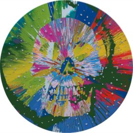 Damien Hirst-Beautiful Ataguju Abreaction Painting For Mark (With Diamonds)-2011