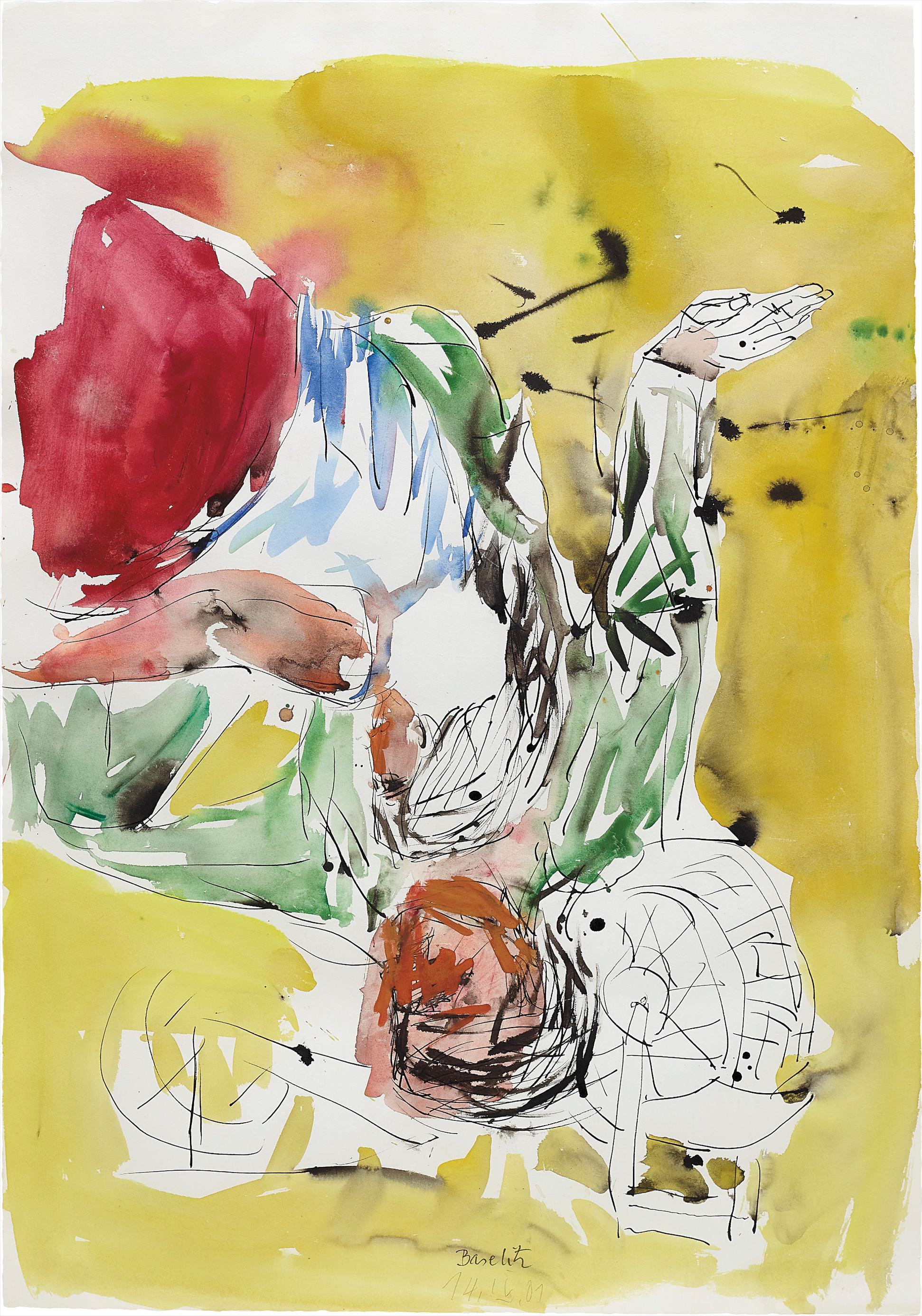 Georg Baselitz-Untitled (Lovers)-2001
