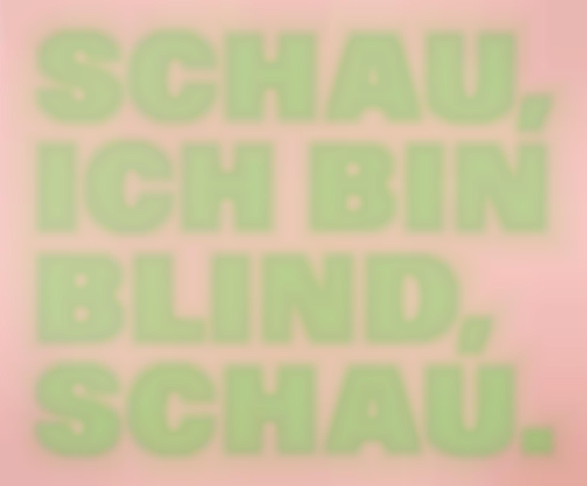 Remy Zaugg-Schau, Ich Bin Blind, Schau.-2002