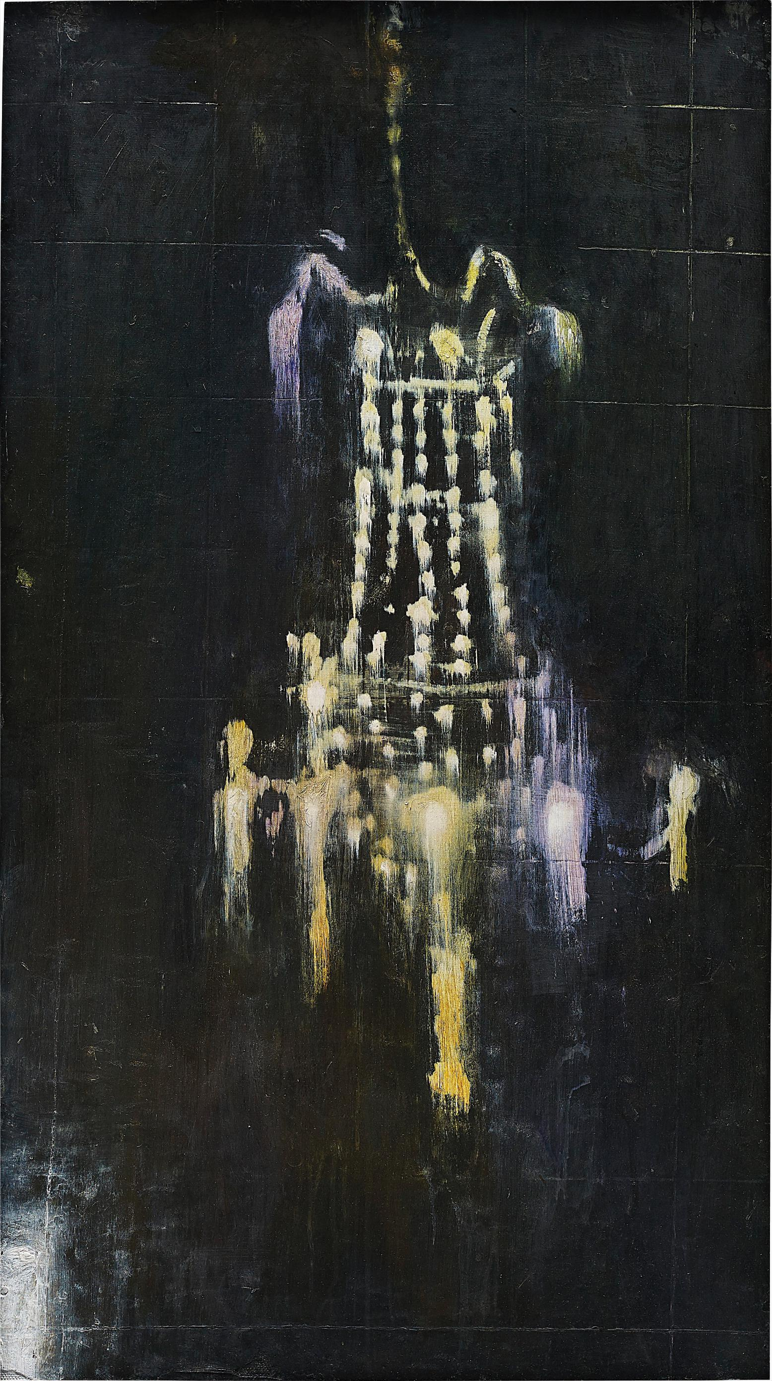 Ross Bleckner-Untitled (Chandelier Painting)-1984