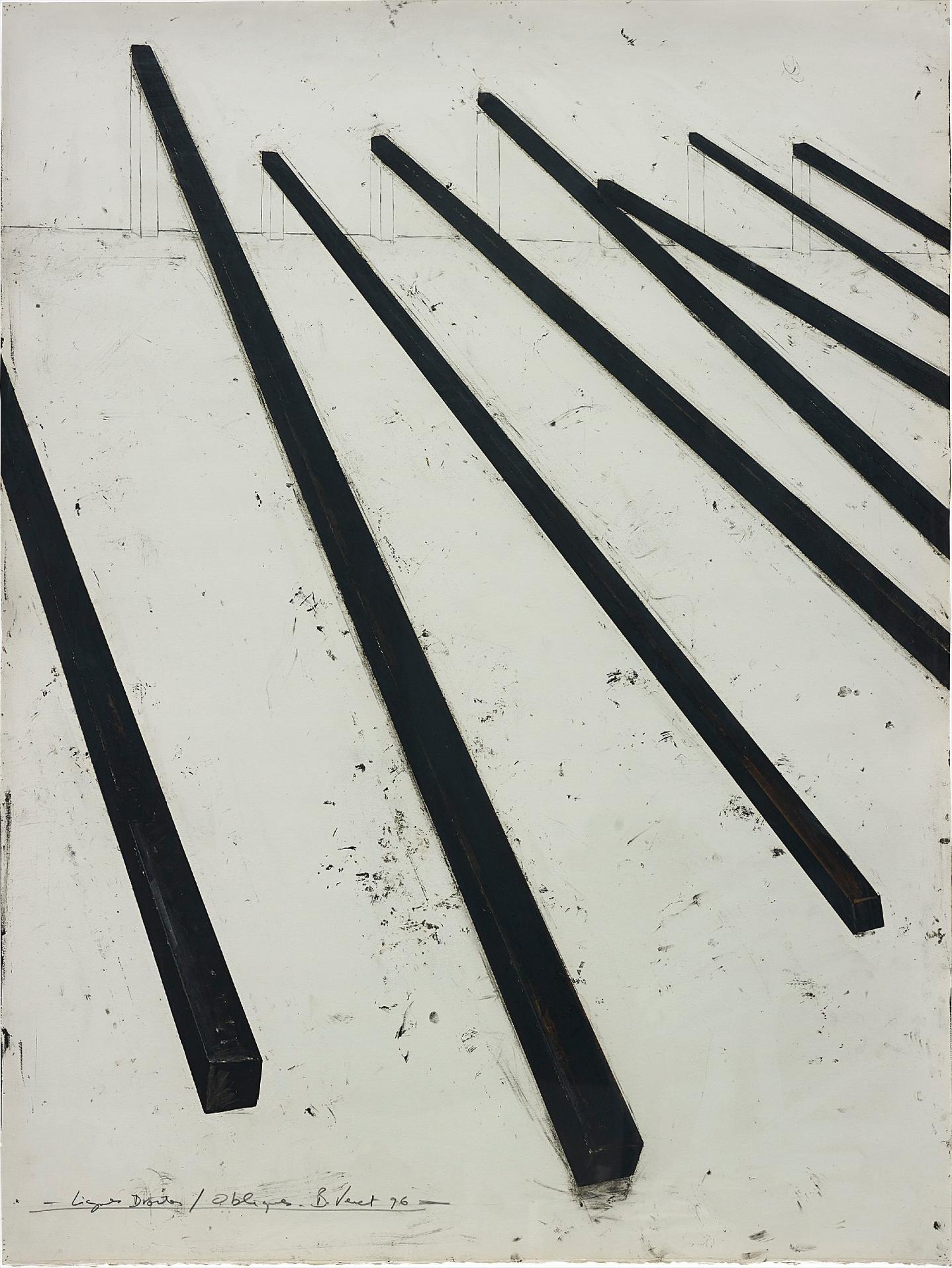 Bernar Venet-Lignes Droites / Obliques-1996