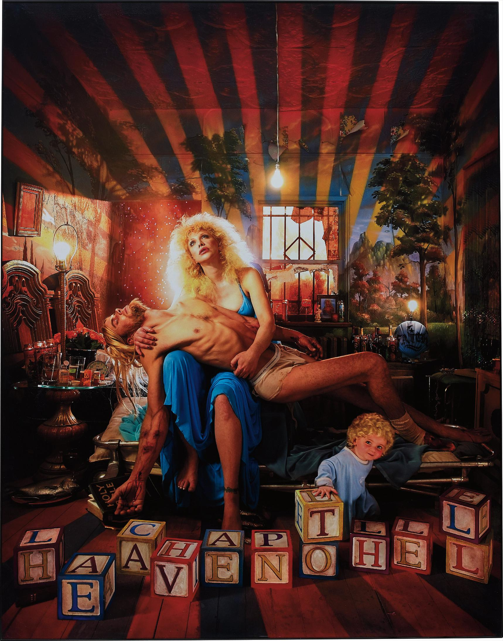 David LaChapelle-Courtney Love, Pieta-2006