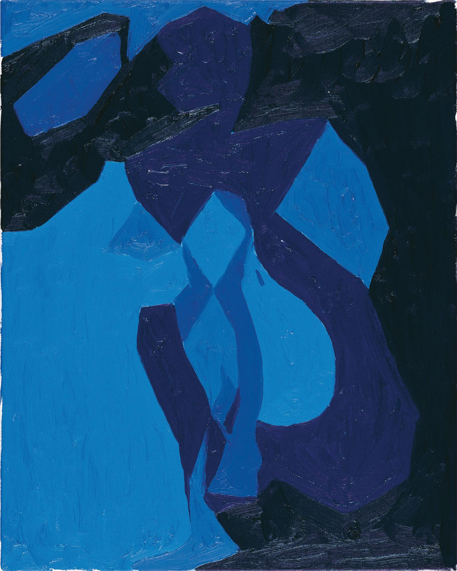Chris Ofili-Nude Study In Blue-2006