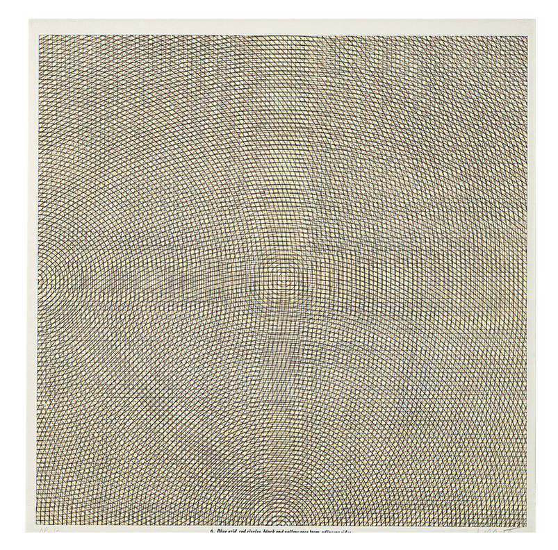 Sol LeWitt-Arcs From Sides Or Corners, Grids & Circles (8)-1972