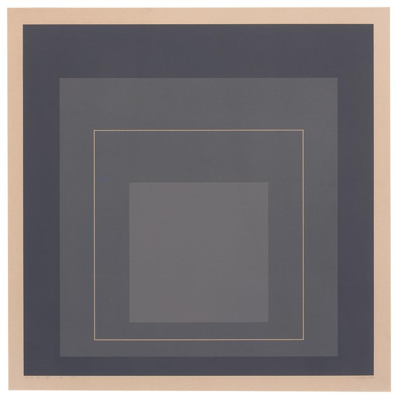 Josef Albers-White Line Squares V (From White Line Squares Series I)-1966