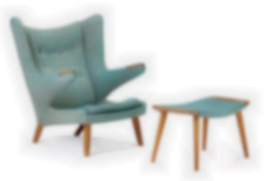 Hans Wegner - Papa Chair And Ottoman; Model no. AP 19 (chair)-1953