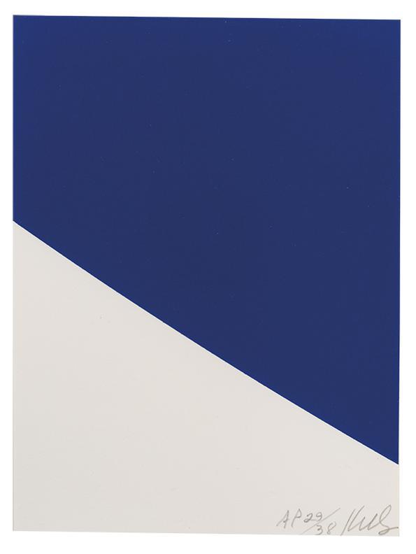 Ellsworth Kelly-Blue Curve-1999