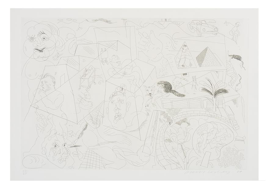 David Hockney-House Doodle-1984
