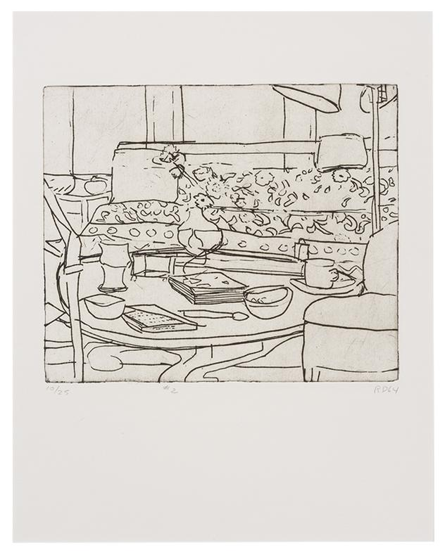 Richard Diebenkorn-#2 (From 41 Etchings Drypoints Portfolio)-1964