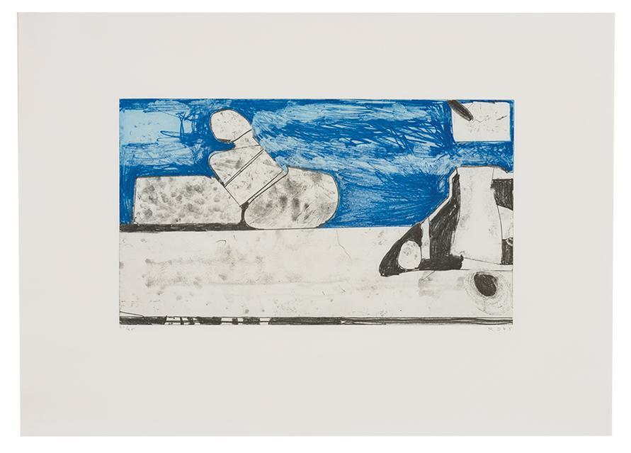 Richard Diebenkorn-Blue Softground-1985