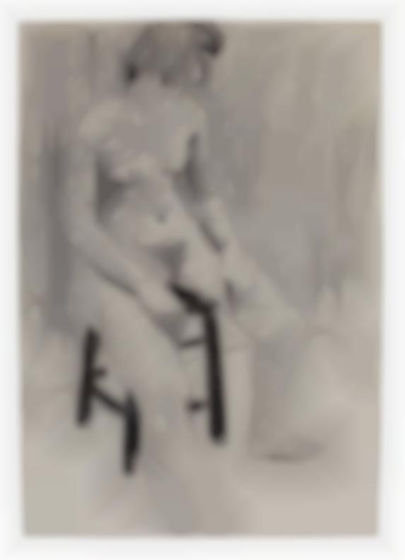 David Park-Seated Female On Stool-1956