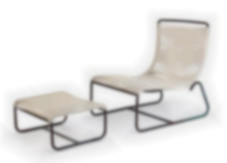 Walter Lamb - Sleigh Chair And Ottoman (2); Model nos. C-5720 (sleigh chair) and C-5726 (ottoman)-1950