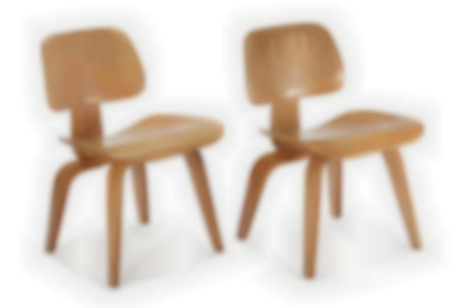Charles & Ray Eames - Dining Chairs (2); Model no. DCW-1950