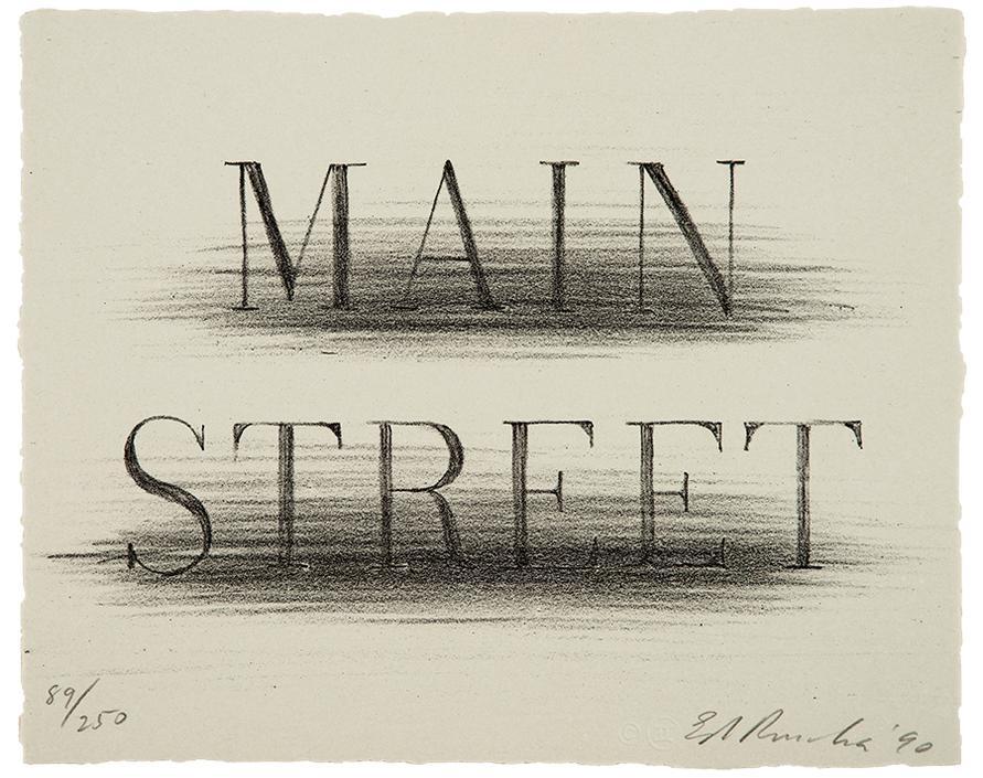 Ed Ruscha-Main Street (From Harvey Gantt Portfolio)-1990