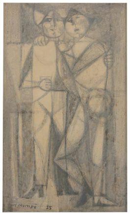 Manuel Hernandez Mompo -  Untitled (Two Figures)-1955