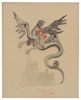 Salvador Dali-Les Usuriers (From La Divine Comedie)-1964