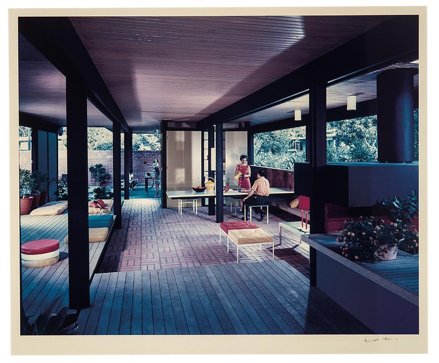 Julius Shulman-Interior Of Mirman House, Arcadia-1958