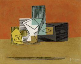 Pablo Picasso-Citron Et Verre-1922