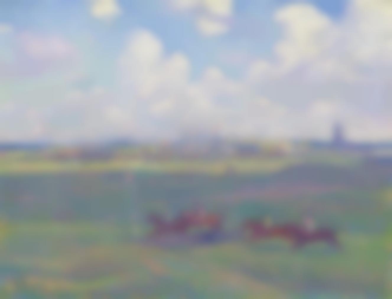 Theo van Rysselberghe-Champ De Course A Boulogne-Sur-Mer-1900