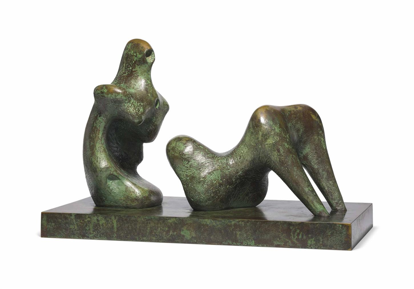 Henry Moore-Two Piece Reclining Figure: Armless-1975