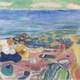 Edvard Munch-Badescene Fra Asgardstrand (Bathing Scene From Asgardstrand)-1936