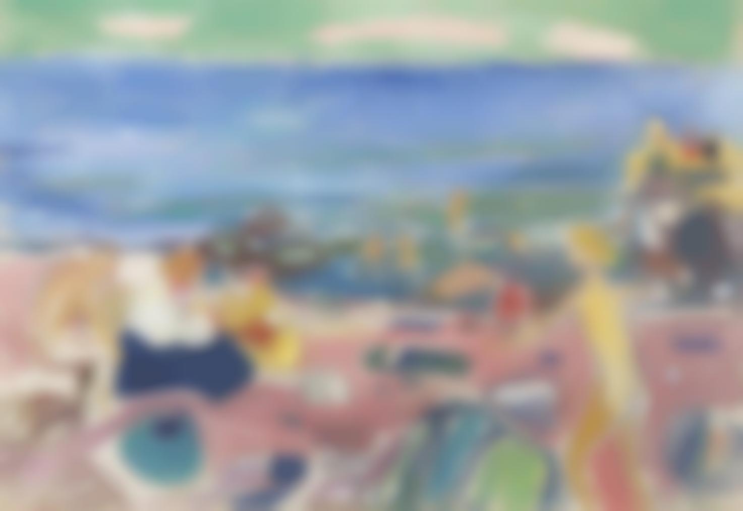 Edvard Munch-Badescene Fra Asgardstrand (Bathing Scene From Asgardstrand)-1936