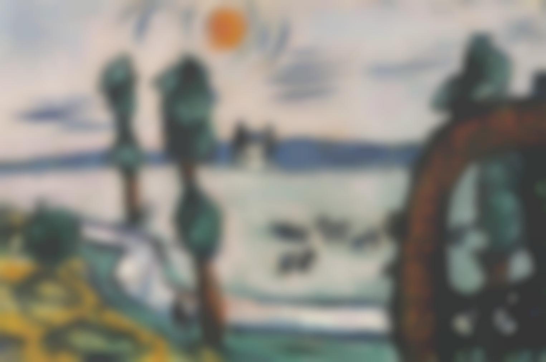 Max Beckmann-Nebellandschaft Mit Kuhen-1941