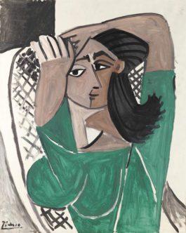 Pablo Picasso-Femme Se Coiffant-1956