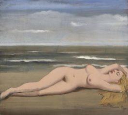 Paul Delvaux-Nu Sur La Plage-1935