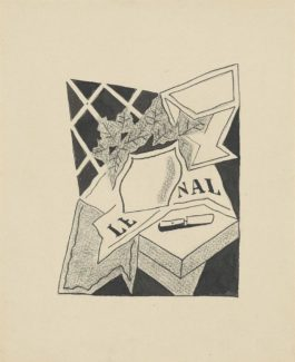 Juan Gris-Nature Morte Au Vase Et Au Journal (Denise)-1925
