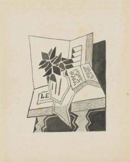 Juan Gris-Nature Morte Au Livre (Denise)-1925