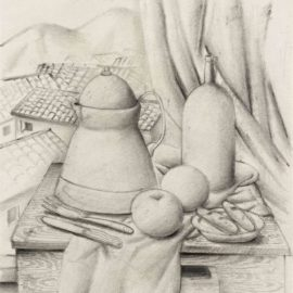 Fernando Botero-Still Life With Mountain View-1987