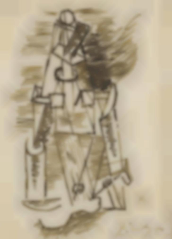 Pablo Picasso-Femme A La Guitare-1912