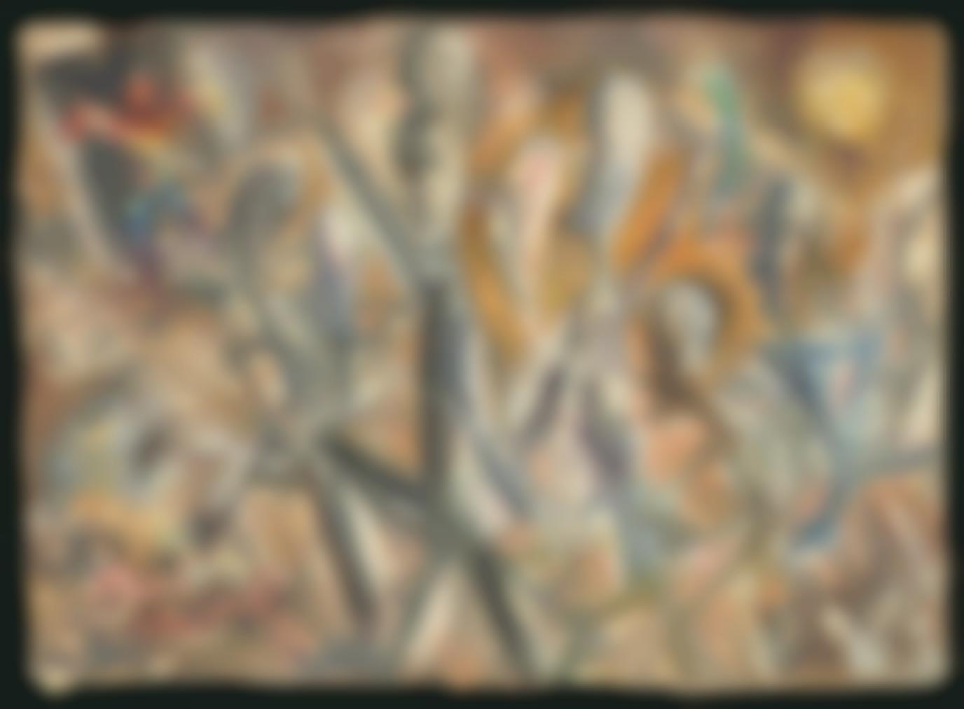 George Grosz-Marching Stickmen-1947
