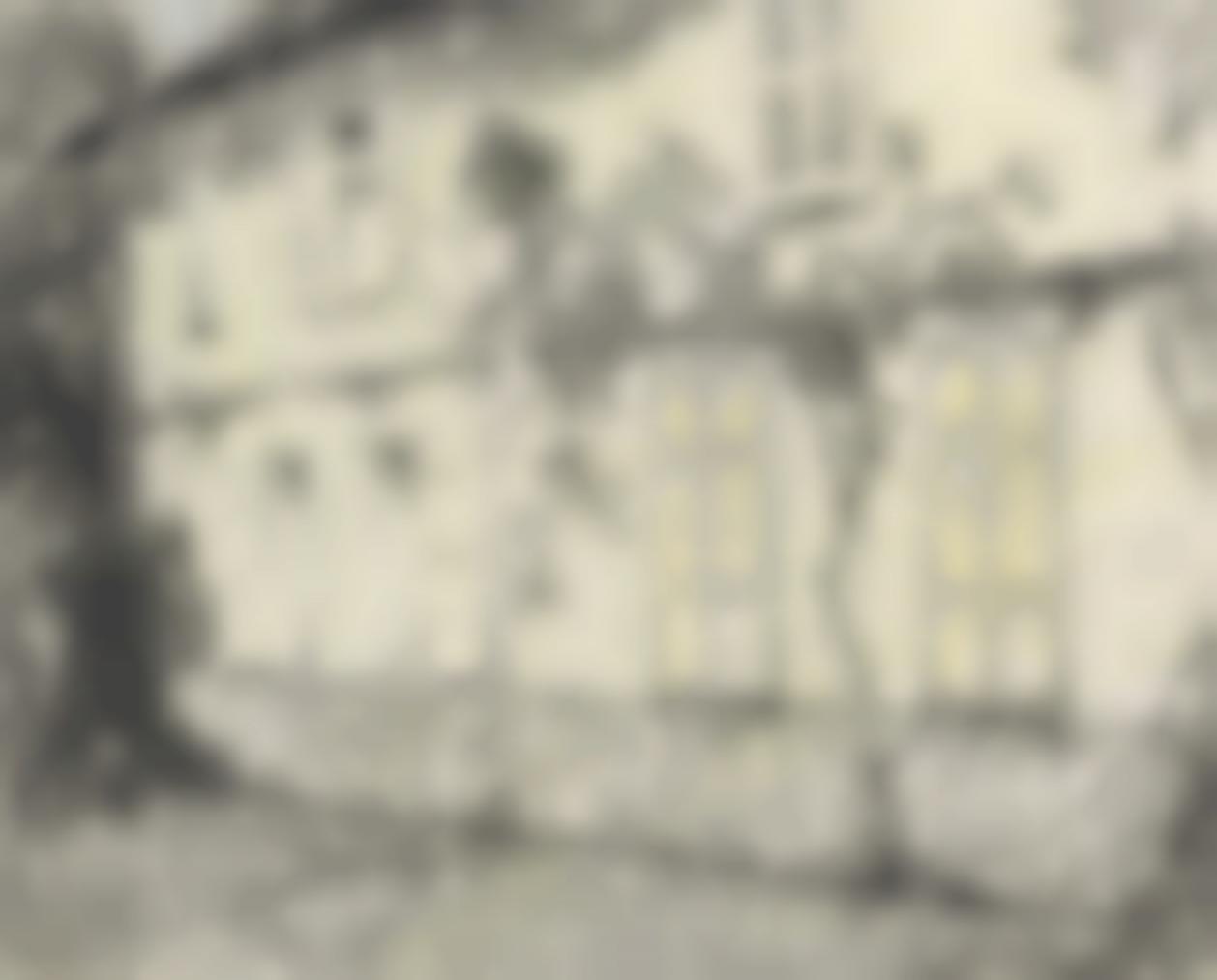 Henri Eugene Le Sidaner-Les Volets Clos, Gerberoy-1933