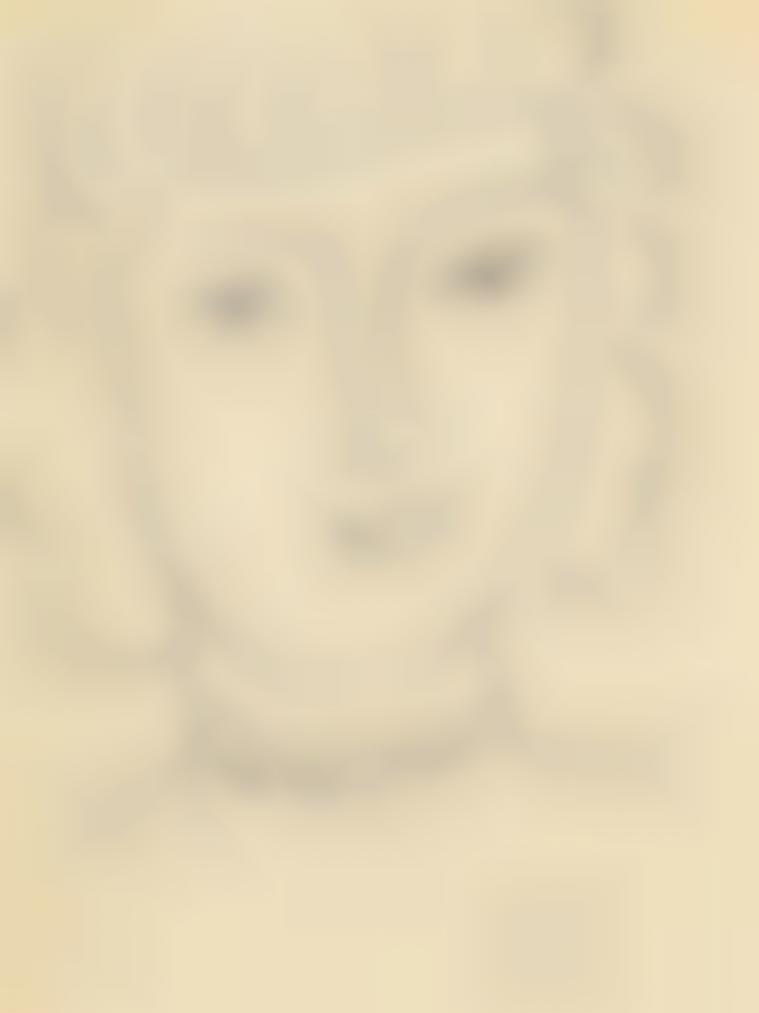 Henri Matisse-Tete De Jeune Fille-1949