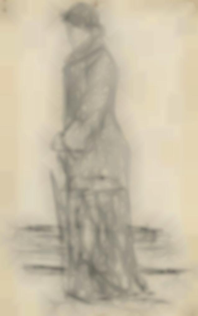 Georges Seurat-Femme Au Parapluie-1881