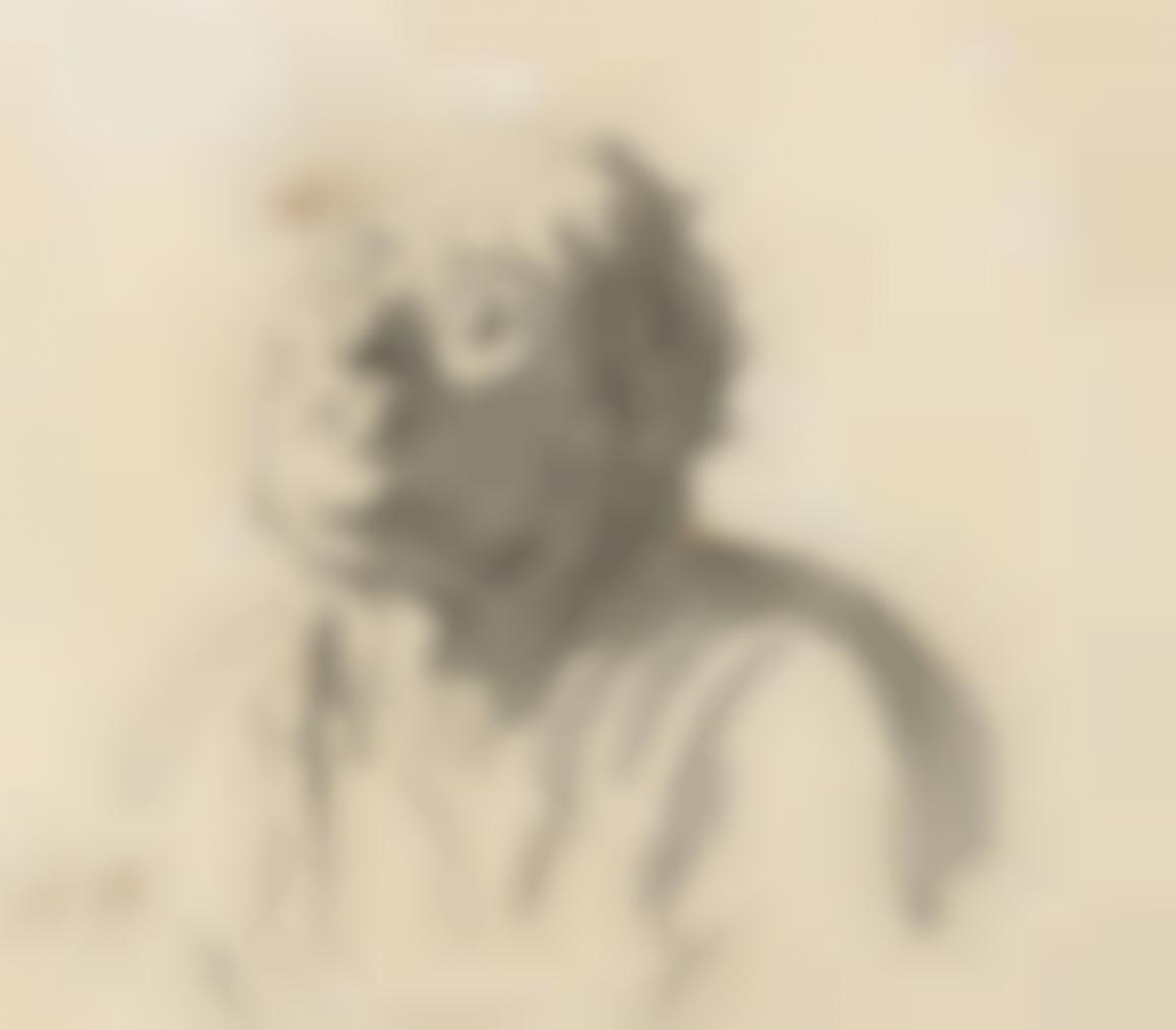 Honore Daumier-Tete Dhomme (Recto); Profil Dhomme (Verso)-