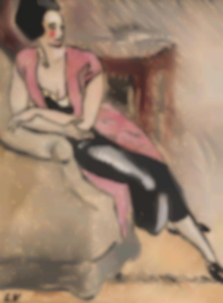 Louis Valtat-Femme Assise Au Gilet Rose-1930