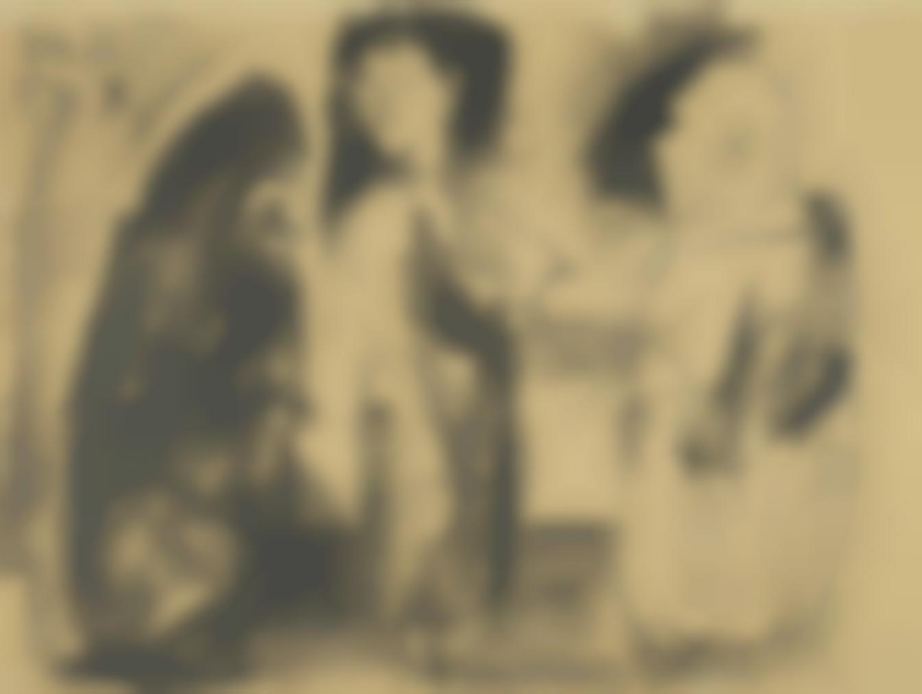 Pablo Picasso-La Fille Et Le Moine-1959