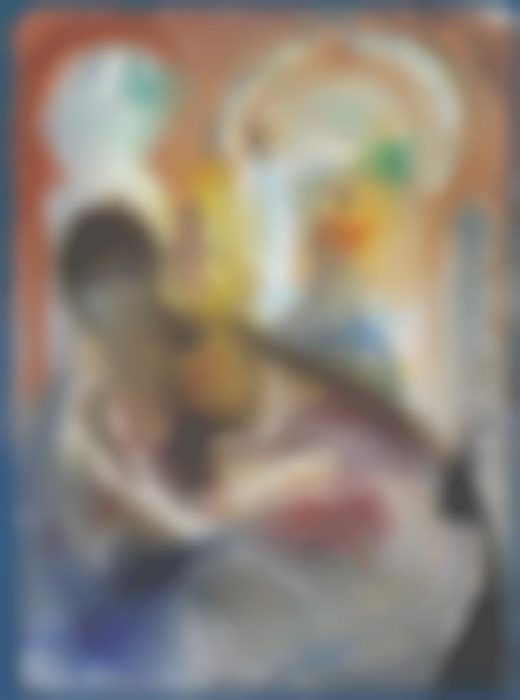 Salvador Dali-Esclave Voilee Et Homme Avec Coiffe Rouge-1966