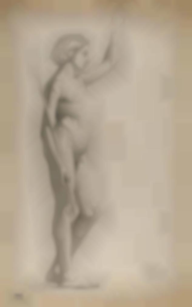 Edgar Degas-Etude Academique Pour Saint Jean Baptiste Et L'Ange-1858