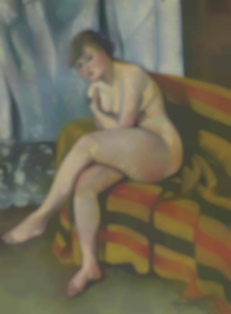 Suzanne Valadon-Nu Assis Sur Un Canape-1916
